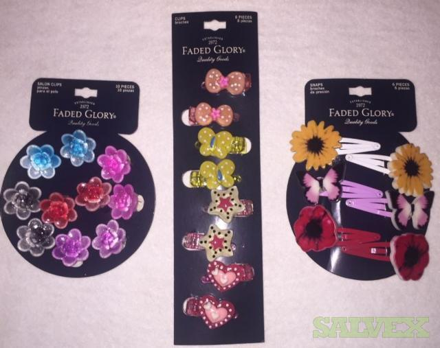 Faded Glory Mini Hair Clips and Snap Clips- 3,000 Units