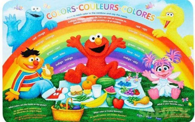 Place Mats - Sesame Street Learning - Two Sided Place Mats