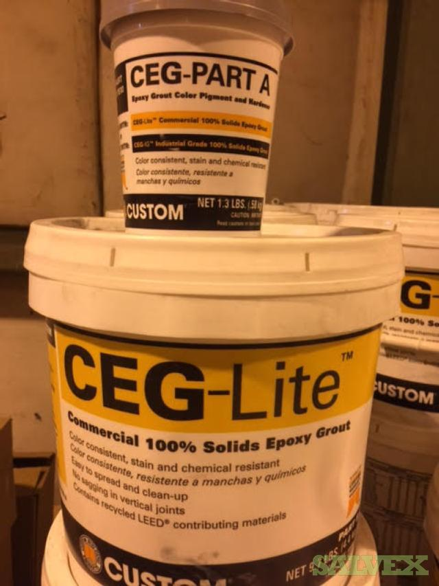 Mix Lot of CEG-Lite Epoxy Grout & Mortar (644 Units)