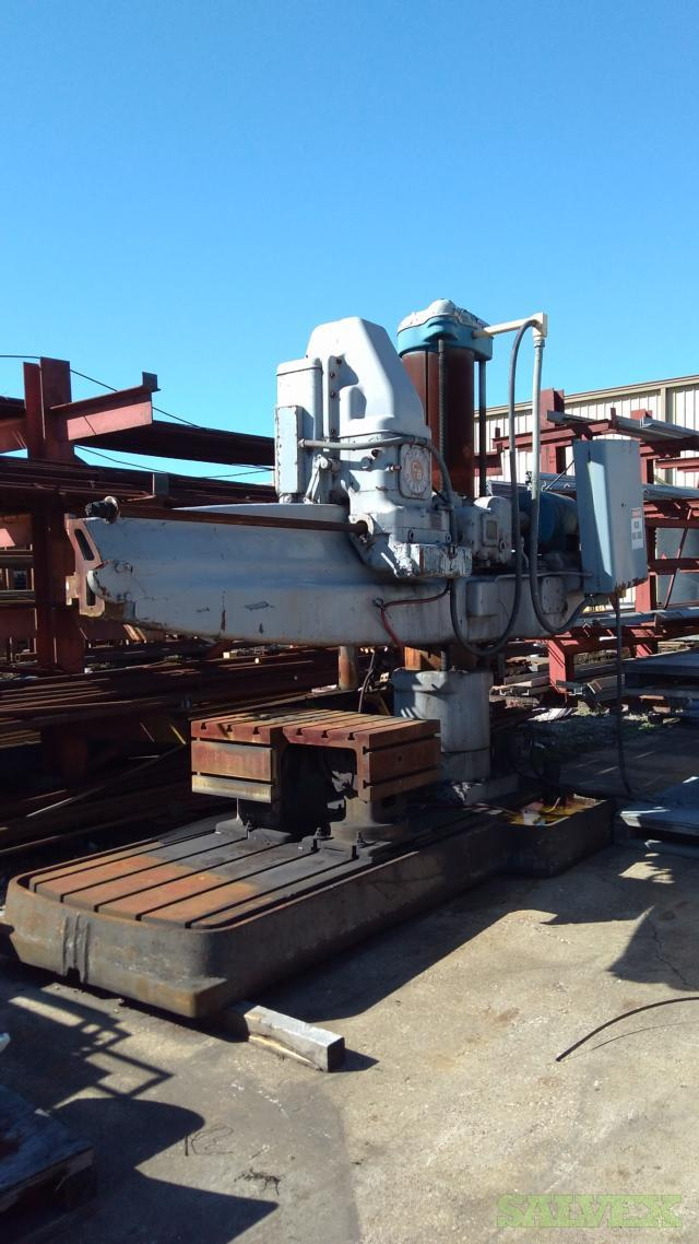 Carlton & Cincinnati Bickford Radial Drills (4 Units)