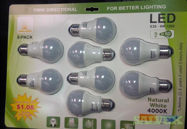LED Light Bulbs 806 Lumen 9w (24,000 Units)