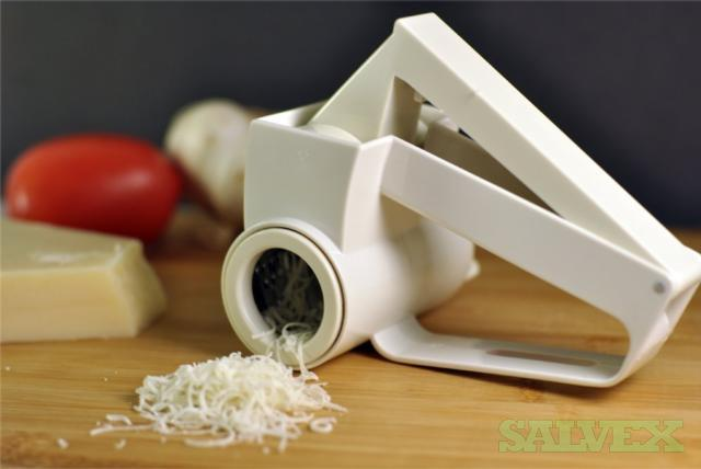 Rotary Cheese Grater, Removable Parts, Stainless Steel Blades
