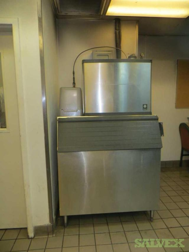 Restaurant Equipment: Pitco Solstice Supreme Gas Fryer, QuietQube Ice Maker, Royal Range of California 36 Range (3 Units)
