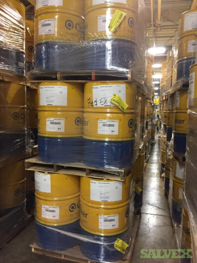 Mixed Lot of Chemicals in Drums Totes and Pails - Quakercool, Die Slick and Ferrocote - Expired - (206 / Drums and Pails)