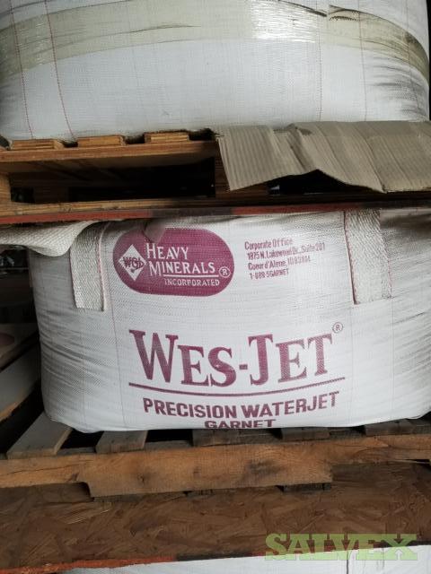 Opta Minerals Bengal Bay - Wesjetet #80 Garnet Precision Water Jet Cutting - Sand Blasting Product (15,428 Lbs / 7 Supersacks)