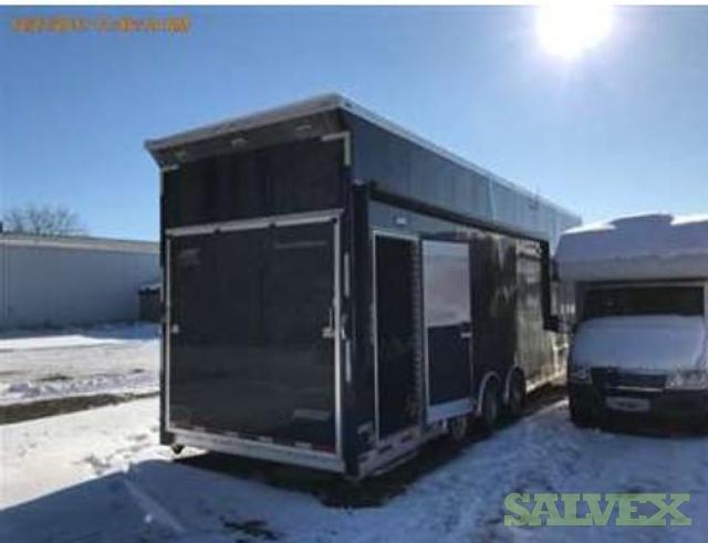 Atc Quest St205 40 Gooseneck Enclosed Car Hauler Salvex
