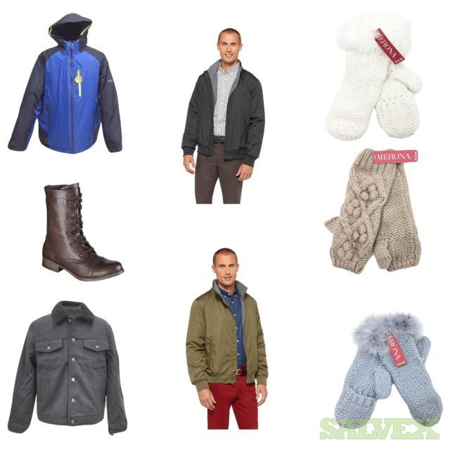 Men's & Women's Jackets,Boots,Gloves, 575 Units, Retail $10,593.25