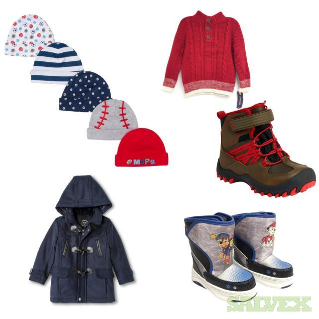 Toddlers Sweaters,Hats,Boots & Other Apparel, 294 Units, Retail $5,124.52