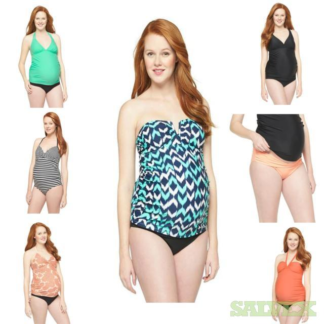 Women's Maternity Swimwear Assorted Sizes and Styles. 221 Units, Retail $5,852.79