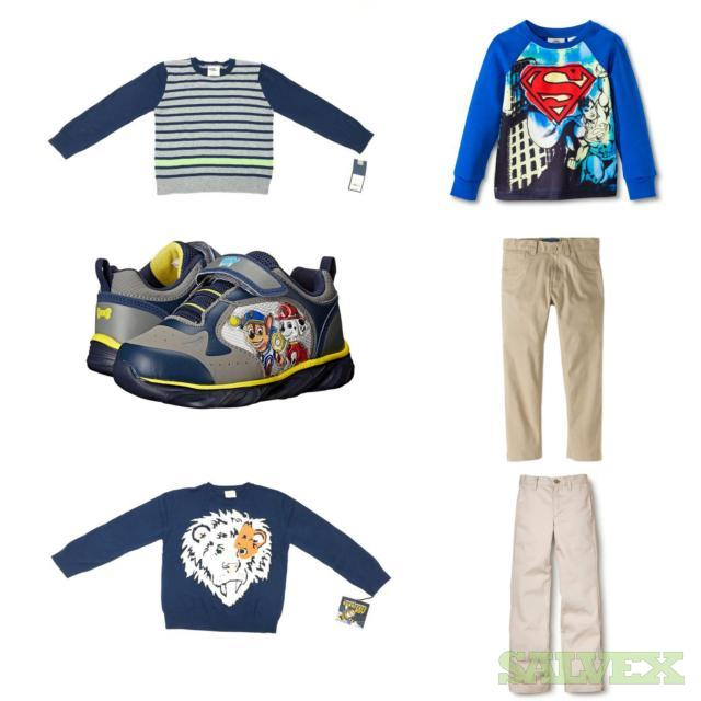 Boys Sneakers, Sweaters, and Pants Assorted Sizes and Styles. 428 Units, Retail $5,645.30