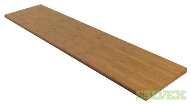 Stand Woven Bamboo Stair Treads Risers And Trim   9,570 Units