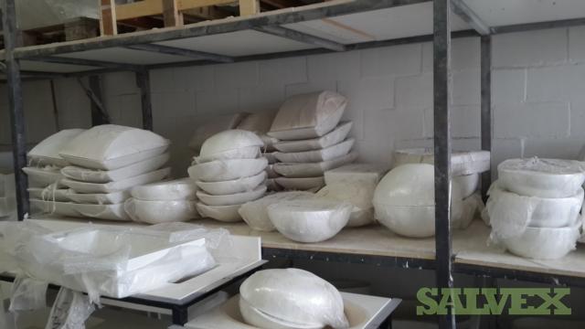 Solid Cast Wash Basins and Bath Tubs (110 Units)