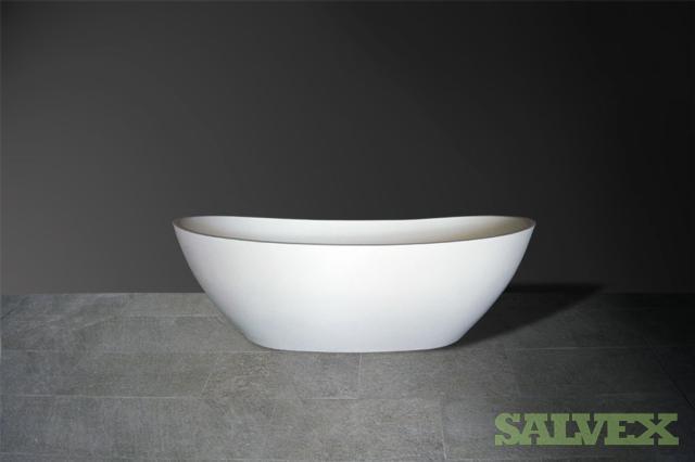 Bath tub, 4x163.5x820x55.5cm white 2 x black, 2 x grey 2x 166x81.5x55.5cm white 1 x grey