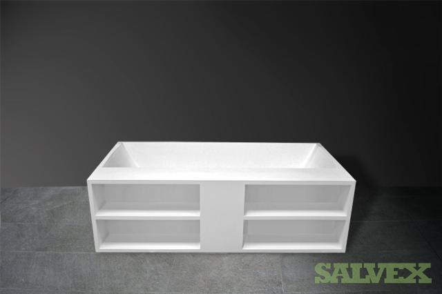 1 x Bath tub with shelves 182x100x70cm