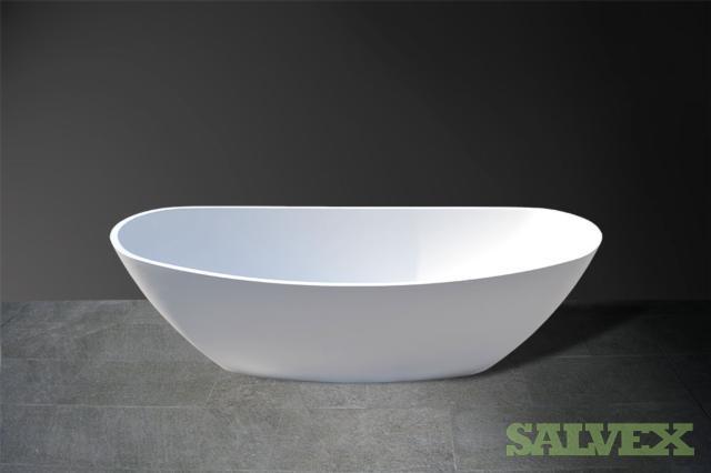 2xBath tub white 166x81.5x55.5cm 2xblack 2xgrey
