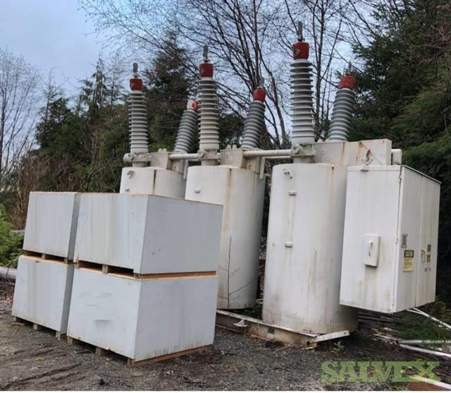 Westinghouse 5250 KVA Transformer, Westinghouse 145GMB40 Circuit Breaker  & General Electric Reactor 7,500 kva (3 Unit)
