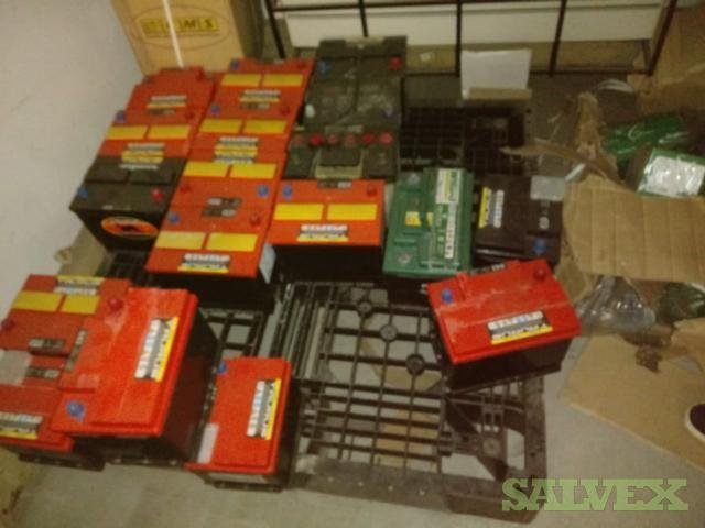Car Batteries, Electrical Parts, Screws, Wood Sealer, Light Switches and T-Shirts