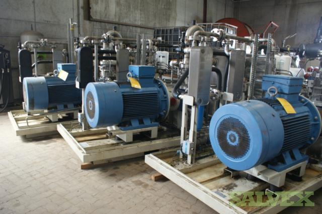 Adicomp Screw Compressors (Screw Boosters) - for Production of Methane Gas in BioGas Upgrading Plants (3 Units)