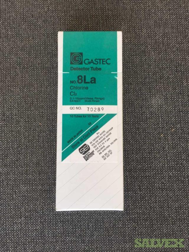 Gastec 8La Chlorine Detector Tubes 10/Pack (1800 Pieces)