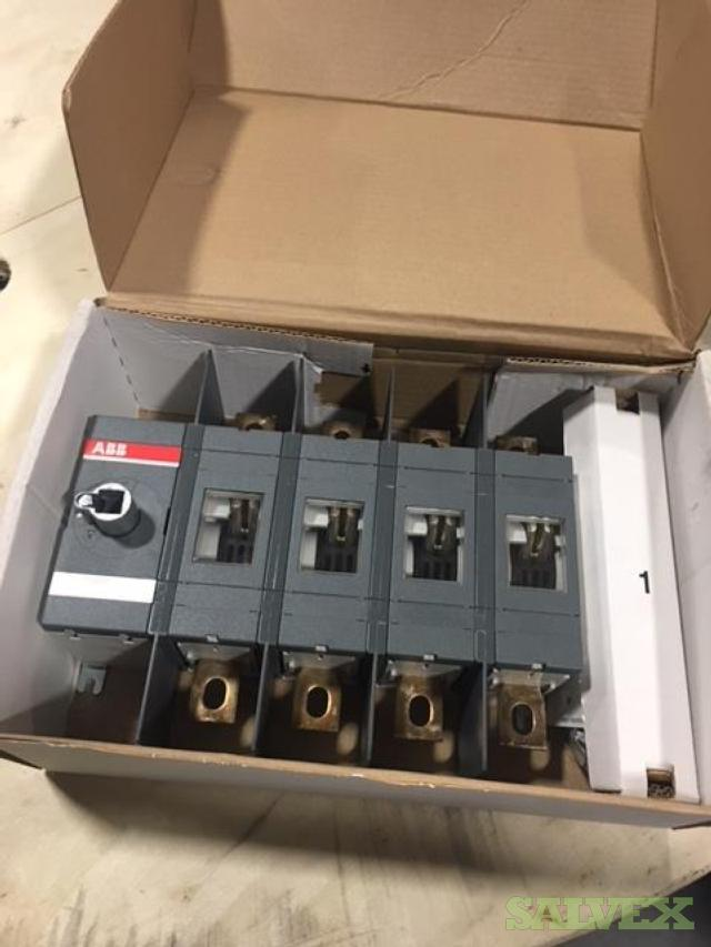 ABB Non-Fusible UL98 400 Amp 4 Pole Disconnect Switch (12 Units)