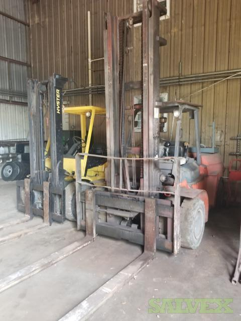 Toyota 7FDV86 & Hyster H100XM Forklifts (2 Units)
