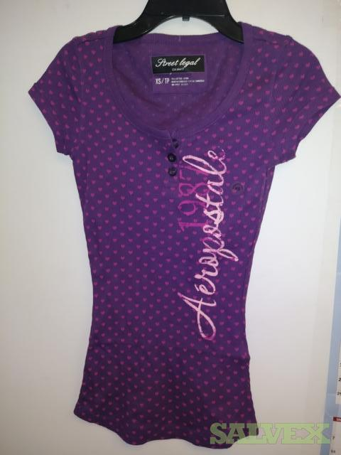 Aero Striped Printed Ladies Tee