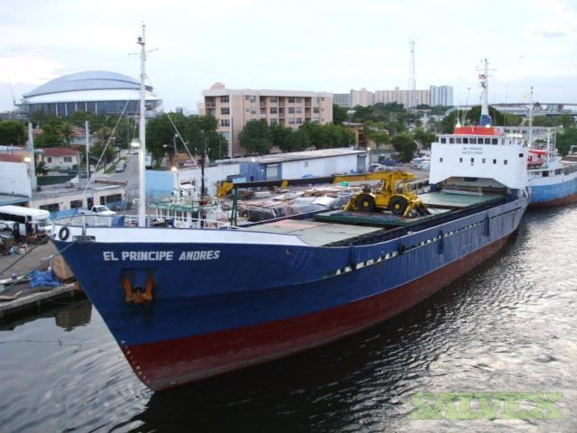 Cargo Vessel Carry 60 Containers of 20', Consume 600gl Daily 2MT at 8 Knots