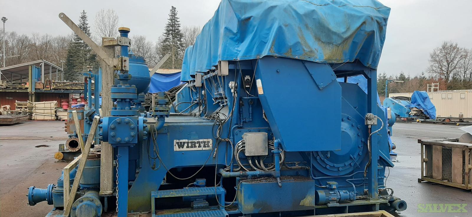 Wirth TPK1600 7 1/2 x 12 Mud Pumps 1984 (2 Units)