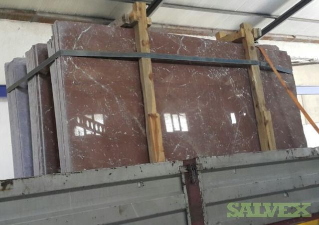 Marble Slabs Akhisar Red Bursa (3,806 Square Feet//44,000 Lbs approximately)
