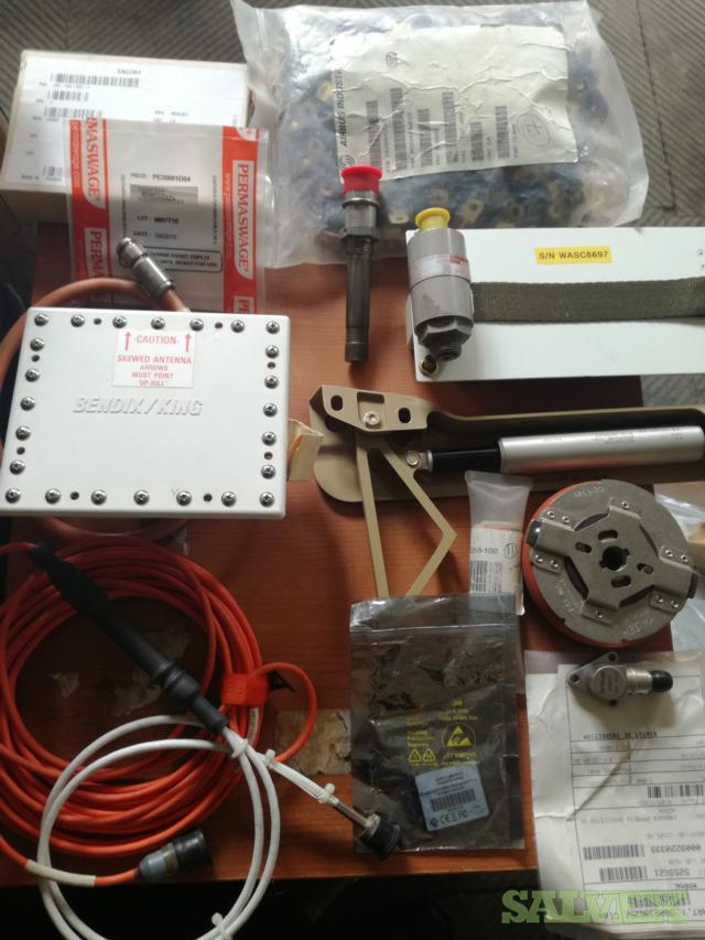 Aircraft Parts: Actuator, Radar Antenna, Accelerometers, KWD Clamps and More  (141 Items)