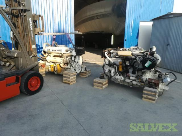 CAT C12-660 Marine Engines With Gearbox, Electronic Controls (2 Units)