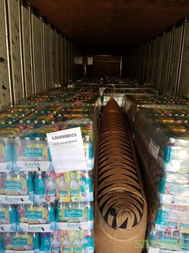 Zephyrhills Flavored Sparkling Water UPC 073430446328 :Lime, Triple Berry and Pomegranate Lemonade Flavors 0.5L  Bottles (Truckload - 1512  Cases) QUICK PICK UP