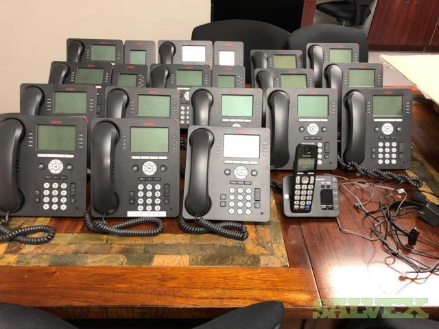 Avaya IP Phone System: Avaya IP Phones, Avaya Side Cars, Avaya IP 500 Control Unit (21 Piece)