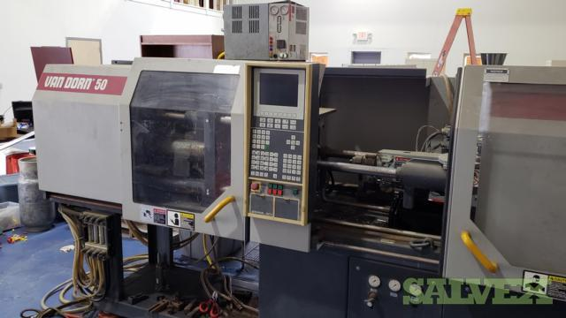 Van Dorn/DeMag 4.8 oz. ERGOtech Model 50 ET Compact Injection Molder 500/200 and the ASTM Specimen (1 Unit)