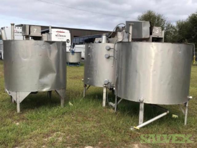 600 Gallon Heavy Duty Insulated Mixing Kettles (4 Units)