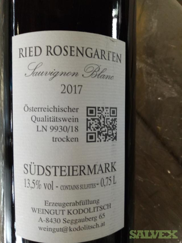 Wine: WMP Reserve 2013 and Ried Rosengarten Sauvignon Blanc 2017 (120 Bottles)