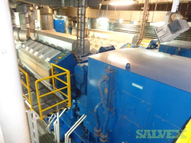 Wartsila W12V32 Diesel Generators 5100 kw (5 Sets)