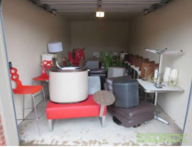 Furniture: Swivel Chairs, Pool Table, Stools, Area Rug, Decorative Pillows, Accessories, Lamps and More (1 Lot)