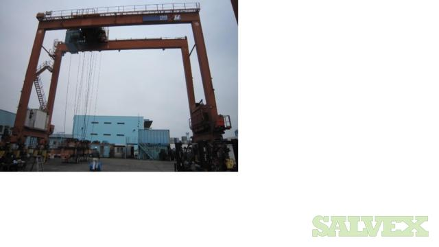 MHI (Mitsubishi Heavy Industry) and MES (Mitsui Engineering & Shipbuilding) Brand Rubber-Tyred Gantry (RTG) Cranes (8 Units)