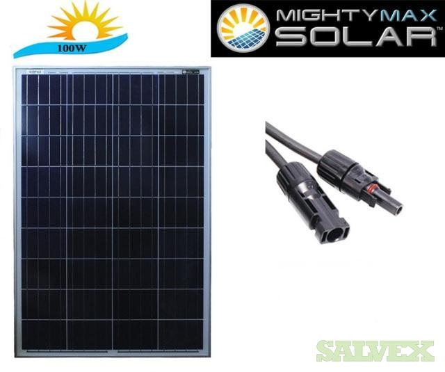 Mighty Max 100W Solar Panels (5,000 Units)