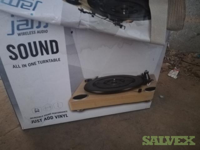 Music Turntables, Speakers, Headphones, DVD's, CD's (339 Units)