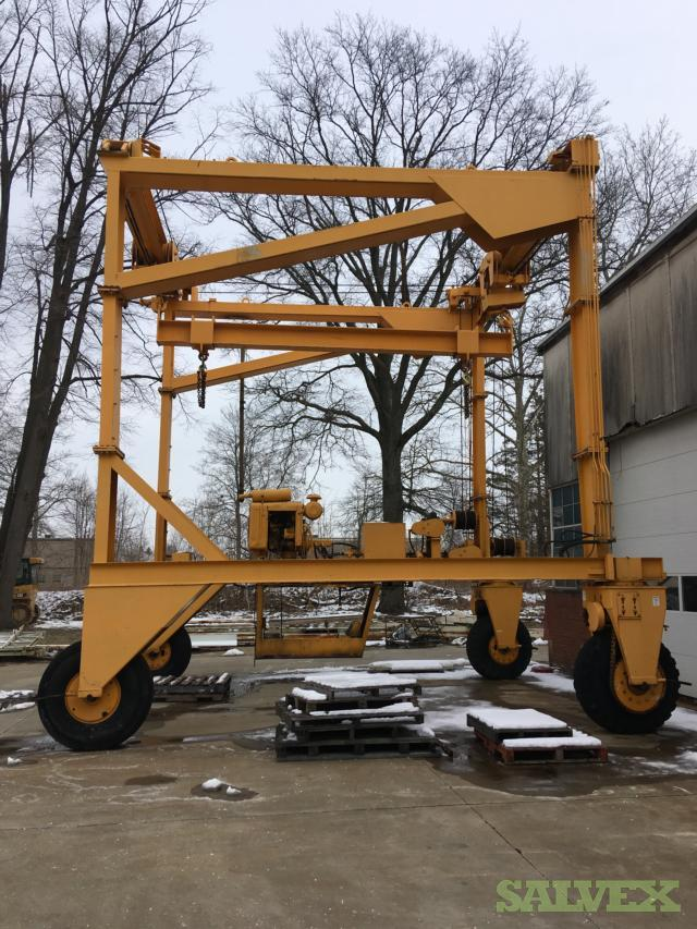 Used Shop and Power Equipment (Grinders, Washers, Bandsaws, Lifts, Gantry Crane etc.)