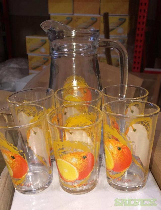 7 Pieces Glass  Drink Set/Water Set (2,400 Sets)