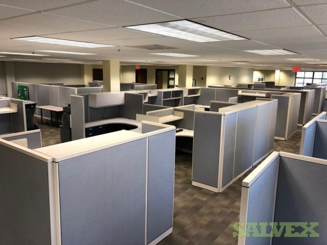 Steel Case Work Stations (65 Units) and Full Wood Office Furniture SOLD