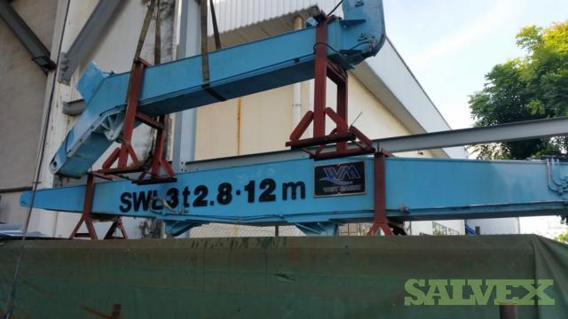 SWL 3T x 2.8M-12M Crane