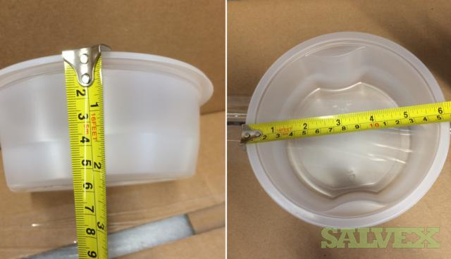 Food 'To-Go' Plastic Bowls - No Lids - 6.2 DIAMETER x 2.2 DEPTH BPA Free  (22 Pallets / Truckload)