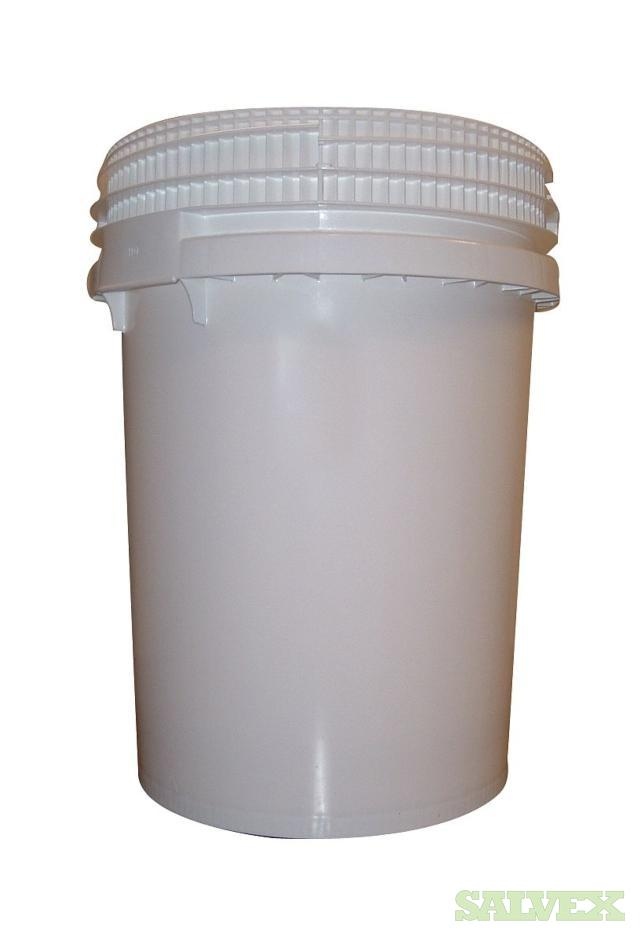 Screw Top White Plastic Drum 12.2 Gallon - 980 Units