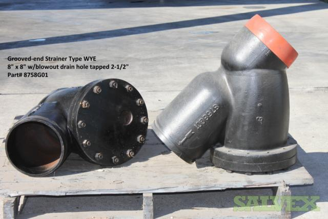 8 Wye Strainer Style 395 & 8 Tee Strainer Style 7260 (4 Units = 2 Units Each)