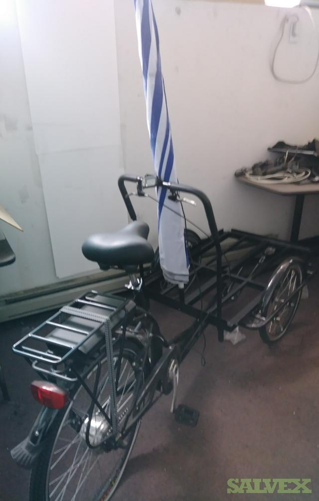 Electric Cargo Bikes with Umbrella -9 Units