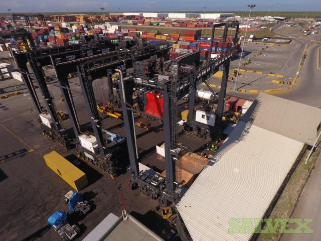 ZPMC 65Lt Rubber-Tired Container Handling Gantry Crane Set (RTG)